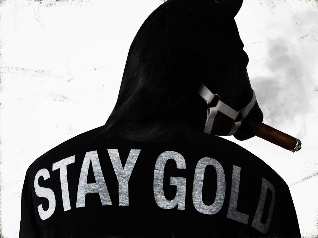 Stay Gold Horseshoe Pocket T-Shirts